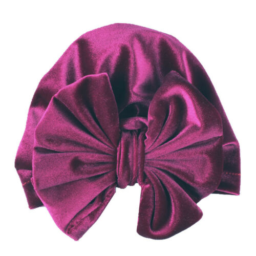 Girl Baby Bow Beanie Cap Toddler Infant Cotton Turban Hat Hair Accessories 6A