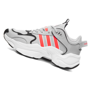 ADIDAS-WOMENS-Shoes-Magmur-Runner-Grey-Red-amp-White-EF5087