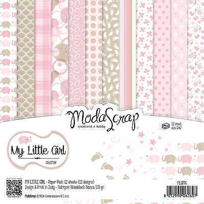 "Elizabeth Craft ModaScrap Paper Pack 12/""X12/"" 12//Pkg-Butterfly Dream"
