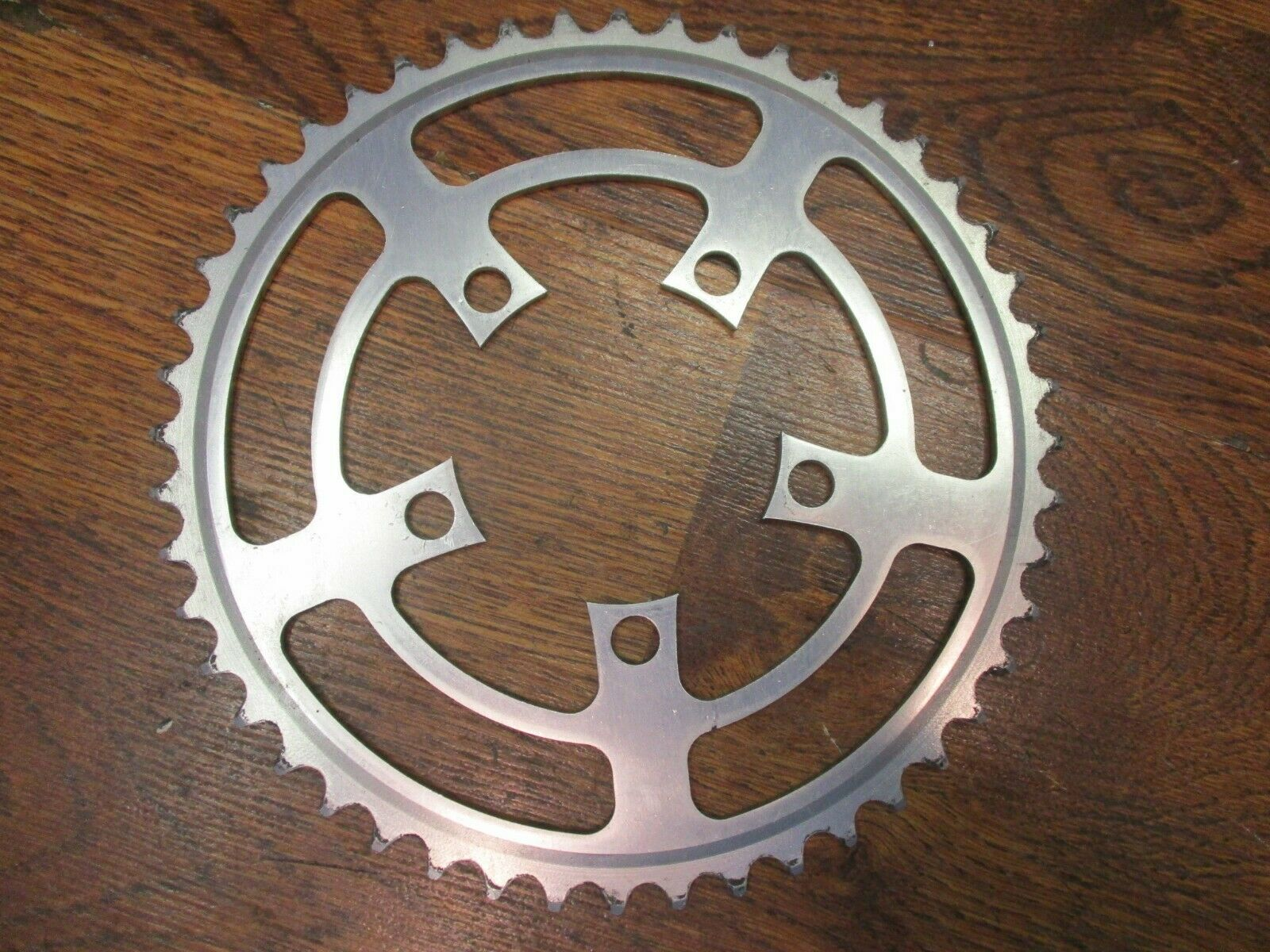 gobike88 Driveline 48T Chainring Guard BCD 104 AF5 Silver Bolts Silver 126g
