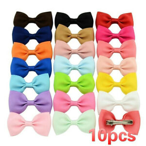 10pcs-Children-Baby-Cute-Candy-Barrettes-Bowknots-Kids-Ribbon-Hair-Clip-Bows