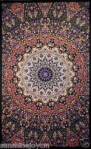 Glow In The Dark India Star Tapestry Wall Hanging Art Magical Table