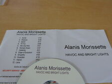 ALANIS MORISSETTE - HAVOC AND BRIGHT LIGHTS- FRENCH  PROMO CD