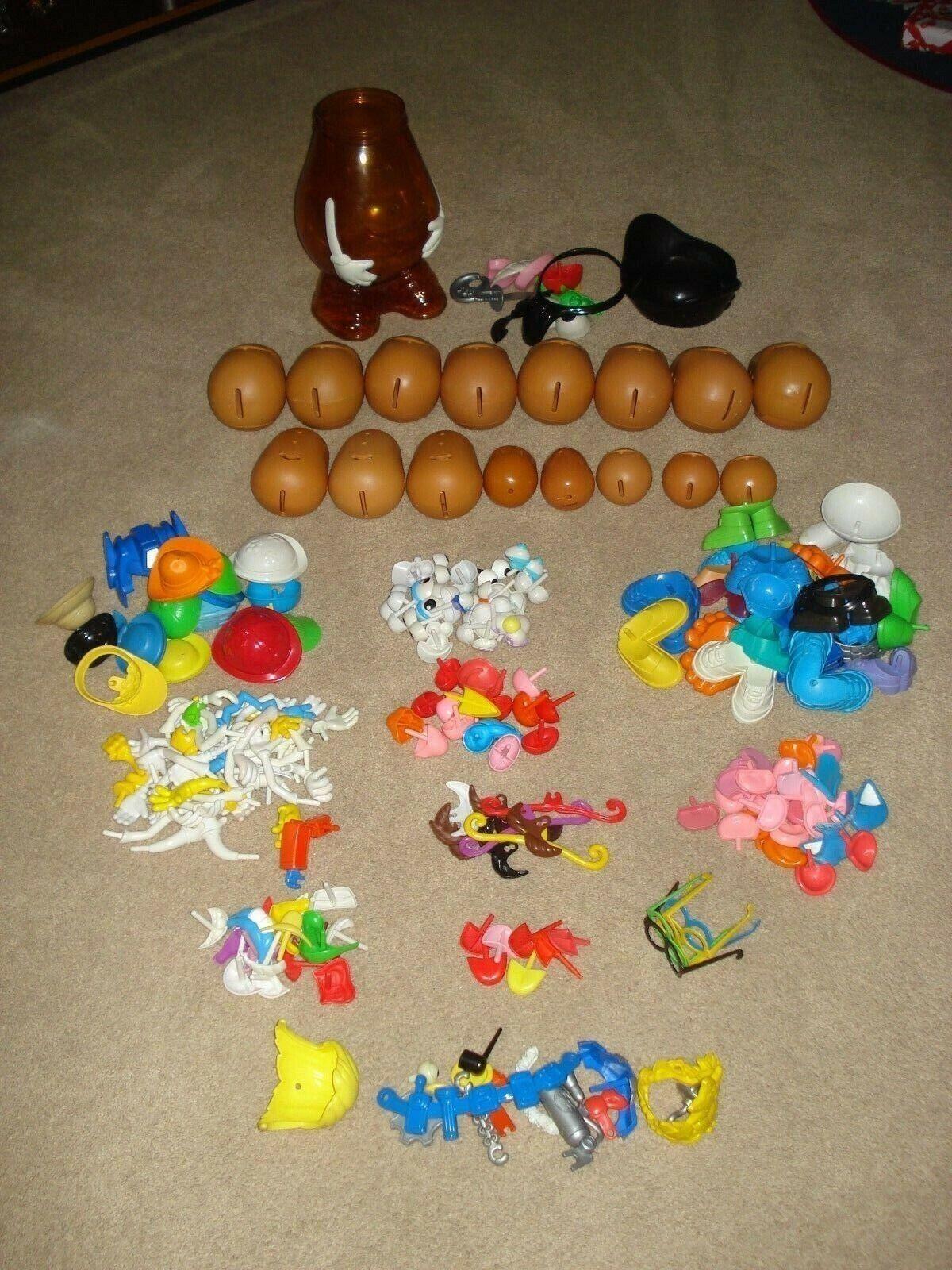 Mr. Potato Head Lot-17 Assorted Assorted Assorted Potatoes & 196 Pieces 2abdac
