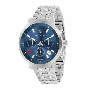 MASERATI-Herren-Armbanduhr-GT-44-mm-Edelstahl-Blau