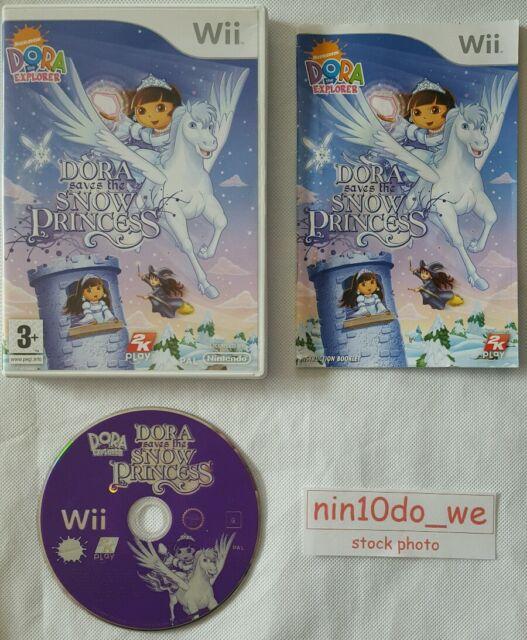 DORA THE EXPLORER SAVES THE SNOW PRINCESS Wii & U-DOORA+PEGASUS+FAIRY=NEAR MINT✔