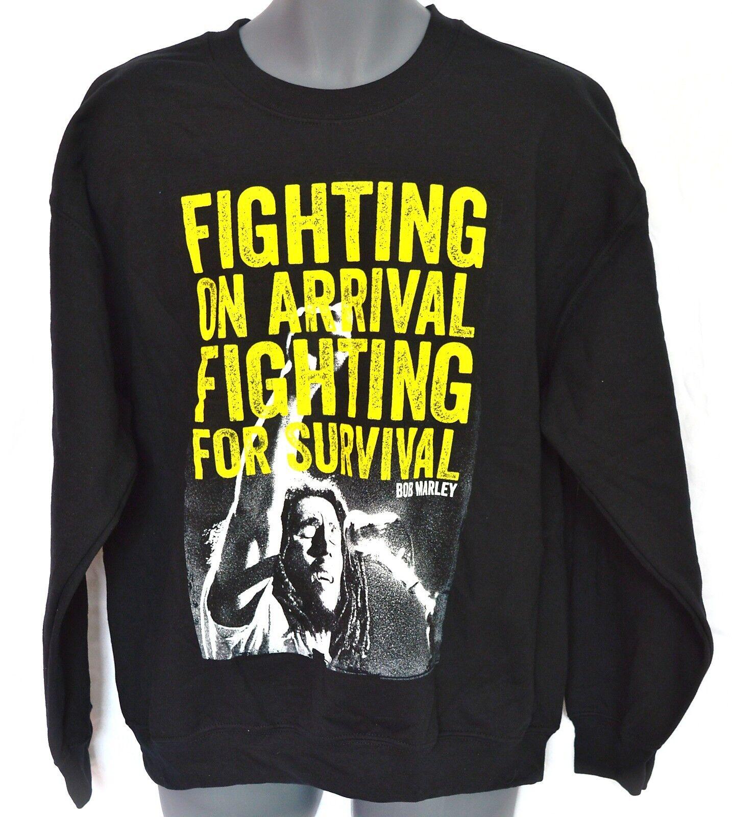 Bob MARLEY _ Felpa _ Fighting Fighting Fighting on arrival... _ PILE _ rasta, reggae c10e2c