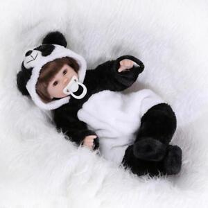 Nicery Reborn Poupée Soft Silicone 18inch Magnétique Bouche Panda Yeux Ouvrir