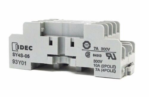 IDEC socket SY4S-05 10A 300V relay base LOT OF 10