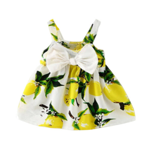 Infant Baby Girls Sleeveless Princess Outfit Straps Summer Beach Gallus Dress