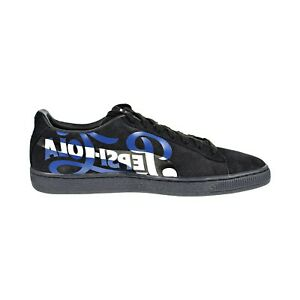 92cfdc7e0a38 Puma Suede Classic x PEPSI Men s Shoes Black Silver 366332-02