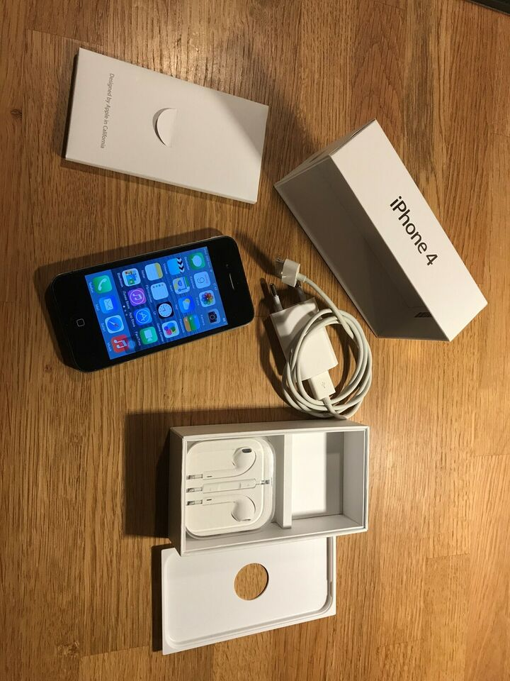 iPhone 4, 16 GB, sort