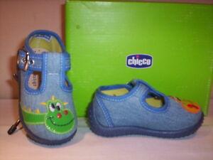 Scarpe-scarpine-sandali-Chicco-neonato-bimbo-bambino-primi-passi-tela-blu-20-27