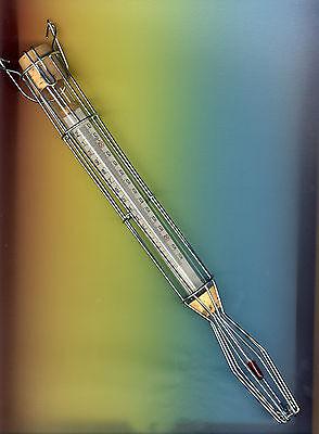 Zuckerthermometer 80+220°C in 1°C Fett und Zucker Thermometer im Drahtkorb