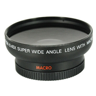 Wide Angle 52mm Lens and Macro Close Up 0.45x lens for Nikon D40 D50 D60 D70 - B