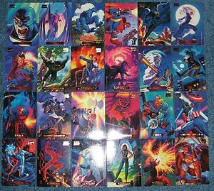 1994-Marvel-Masterpieces-Mini-Master-Set-with-Powerblast-Holofoil-Chase-Set