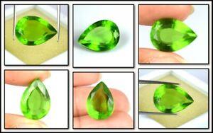 Earthmined 9.25 Ct Pakistan Peridot Gemstone Natural Pear Cut Certified A51654