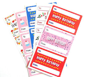 Image Is Loading Happy Birthday Gift And Present Tags Colourful Labels