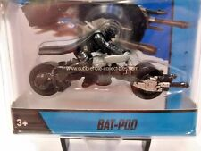 2014 Hot Wheels Dark Knight Trilogy Bat-Pod Motorcycle in Black with Rider