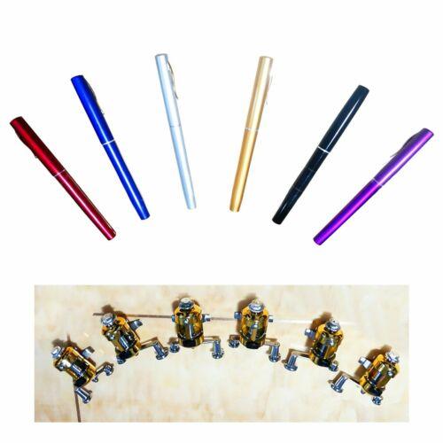 Mini Portable Pocket Telescopic Fish Pen Aluminum Alloy Fishing Rod Pole Reel j