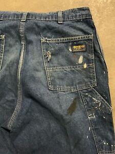 Vintage-Workwear-Jeans-Denim-ausgewaschenes-Osh-Kosh-1950-039-s