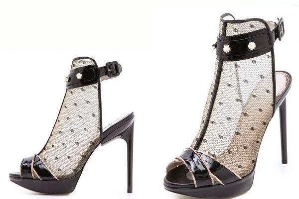 960 New Jason Wu Runway Stella Lace Nude Black Black Black Ankle Strap Pearls Heels shoes 91b632