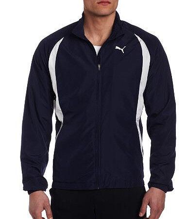 Puma TB Warm Up Mens Running Jacket Blue