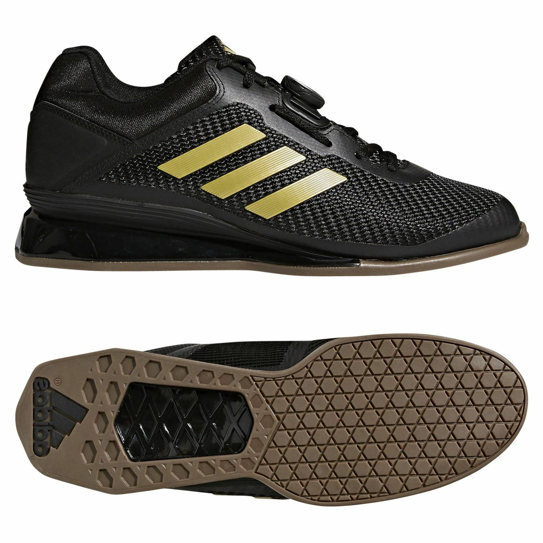 Adidas LEISTUNG 16 2.0 WEIGHTLIFTING SHOES BLACK gold TRAINING TRAINING  TRAINING STABILITY LIFTING c3ac2c ...
