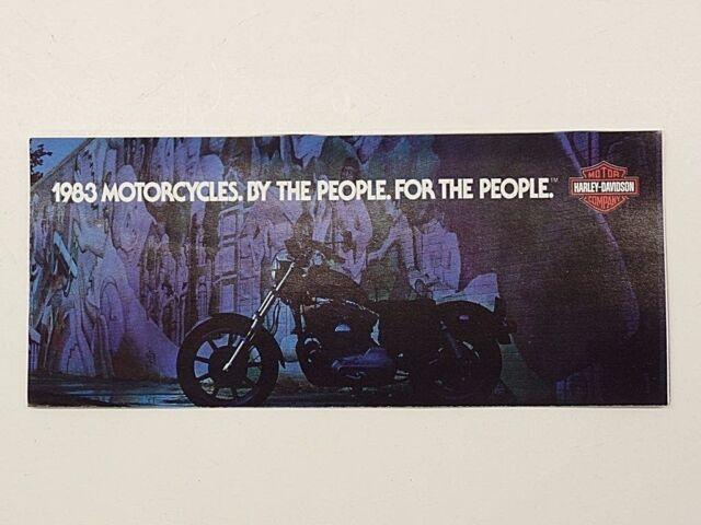 83 Harley-Davidson Xlx61 XLH XLS FLT Flh/t FXR FXE FXSB Fxrs/wg Sales  Brochure