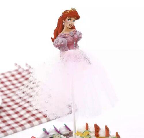 Princess Ariel Little Mermaid Pink Dress Cake Topper Girls Birthday Party
