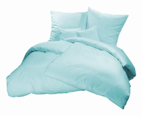 Biber Bettwäsche 200 x 220 Flanell Winter Bettbezug Garnitur Bettbezüge Set Blau