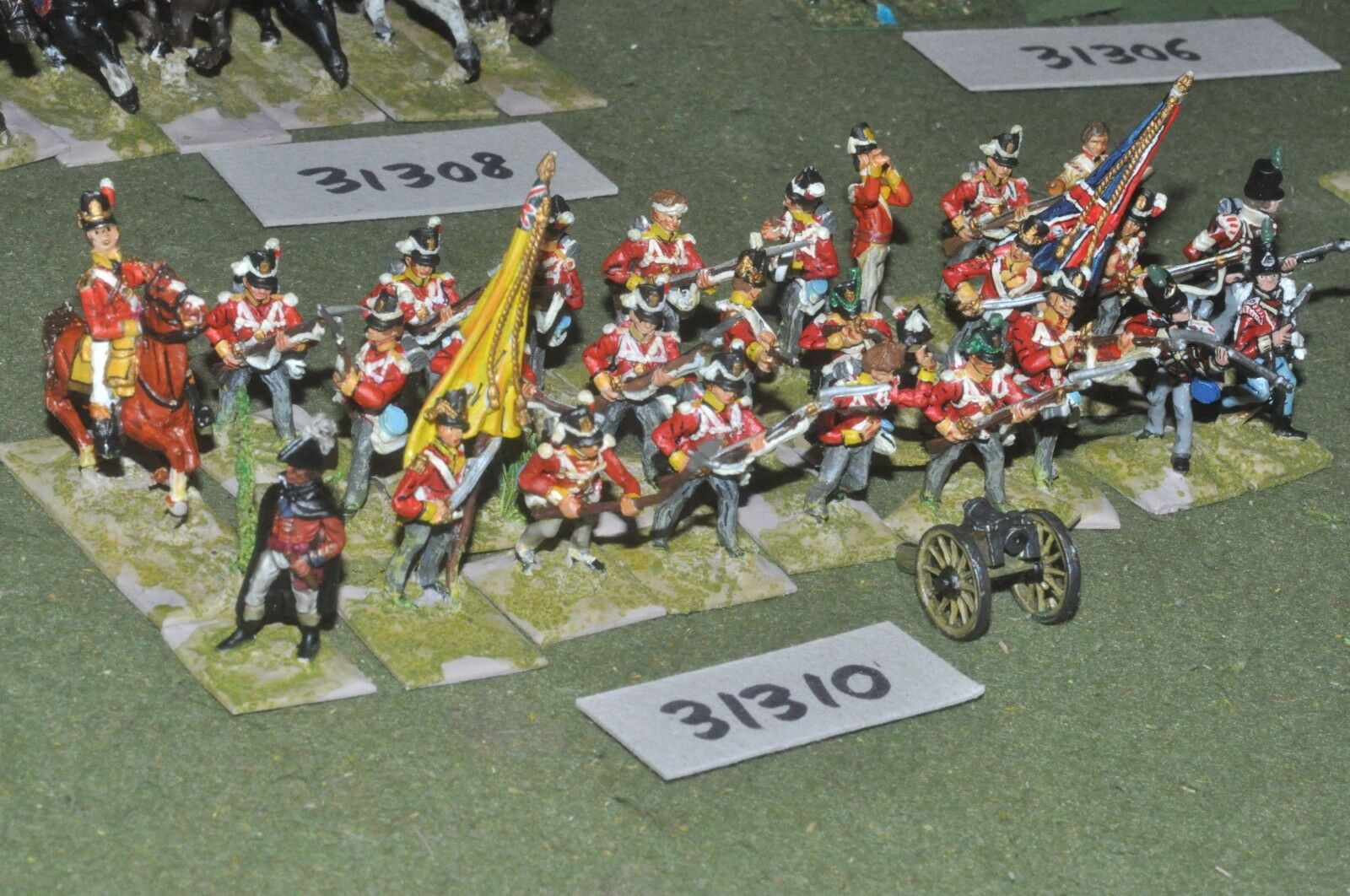 25mm napoleonic   british - line 24 figures - inf (31310)