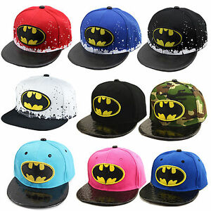 036ca98bcf8 Image is loading Children-Kids-Boy-Batman-Snapback-Baseball-Cap-Sport-