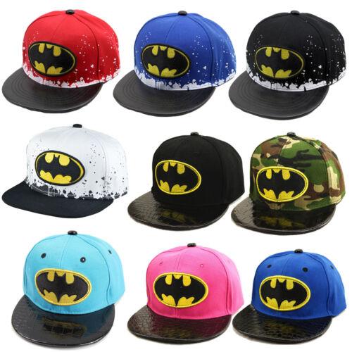 Children Kids Boy Batman Snapback Baseball Cap Sport Bboy Hip-Hop Hat Adjustable