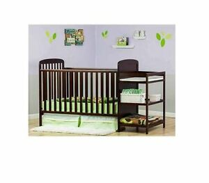 baby crib changing table toddler kid convertible bed