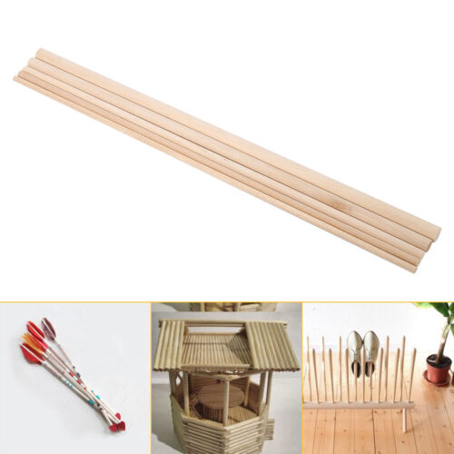 10X 30cm Long Wooden Arts Craft Sticks Dowels Pole Rods Sweet Trees Wood Tool HG