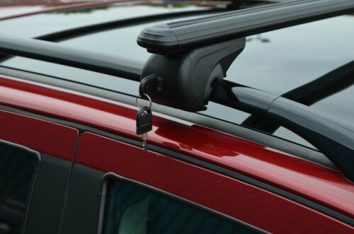 Black Cross Bars For Roof Rails To Fit Land Rover Freelander 2 100KG Lockable