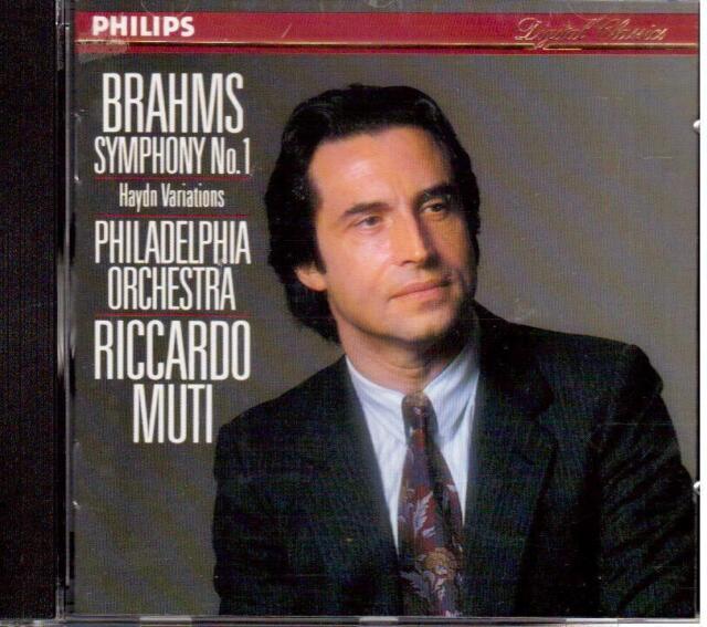 Brahms : Symphonie No 1, Variations Haydn / Riccardo Muti, Philadelphia - CD
