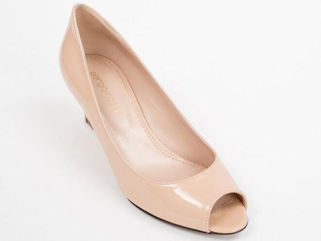 Nuevo Beige Charol Sergio Rossi Zapatos Talla 35 35 35 EE. UU. 5  almacén al por mayor