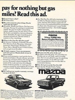 Classic Vintage Advertisement Ad D28 1977 Mazda rx4 truck rx3