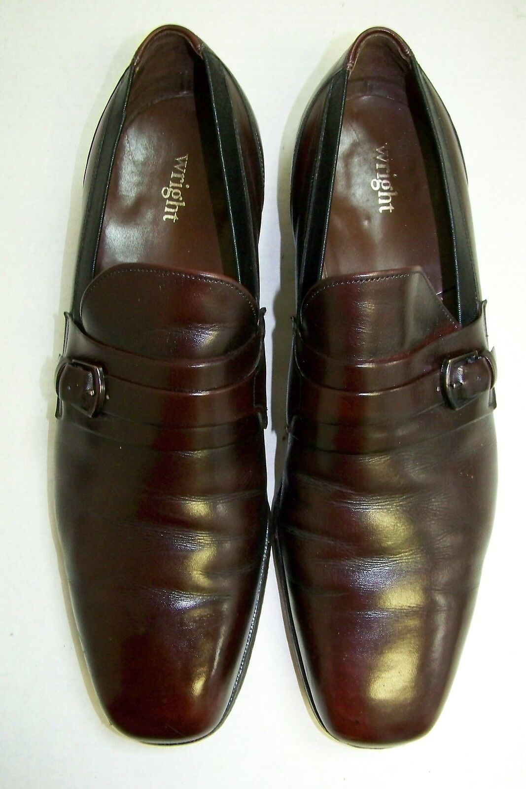 Wright Cordovan Loafers Leather Slip-on Dress Driving Loafers Cordovan 13 B eb105b