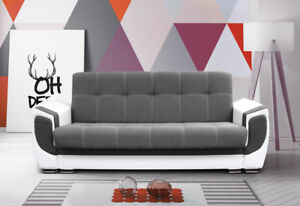 Modernes Sofa Mit Schlaffunktion Und Bettkasten Kleines Couch Grau