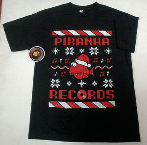 Official Piranha Records Ugly Christmas Sweater Black Shirt S-4XL ...