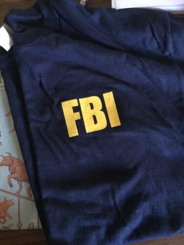 FBI Tshirt Mens Hombre Size XL Quantico Gildan Tee Navy Blue Trademark t-shirts