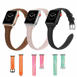 size 40 edd27 cbb1b Details about Fintie Apple Watch Band 38mm Premium Leather Replacement  Wrist Strap W/ Clasp