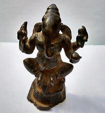 Ancien Ganesh en bronze Inde du Nord 18e