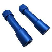 (2) 1/4-20 Paracord Jig Billet Aluminum Knurled Thumb Screw Bars Locking Nuts