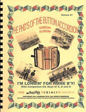 """ACCORDION BOOK ,""""I'M LONGIN' FOR HOME B'Y"""" EASY TUNES TO  PLAY BY NUMBERS"""
