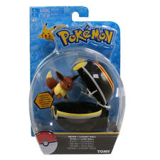 Pokemon Tomy Clip 'N' Carry Pokeball w/Figure - EEVEE w/Luxury Ball (2 inch)