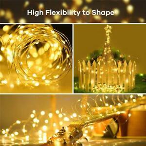 200-Catena-Luminosa-LED-Solare-Filo-di-Rame-Luci-Illuminazione-Esterna-Natale